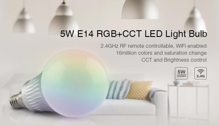MIB07 - LED Bulb 5W E14 RGB-CCT Image